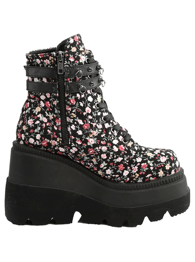Women's Shaker-52st Wedge Platform Ankle Boot by Demonia