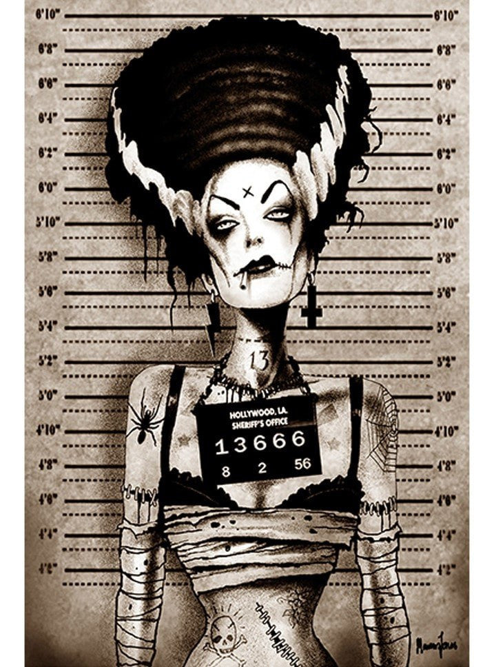 """Bride Mugshot"" Print by Marcus Jones for Black Market Art - www.inkedshop.com"