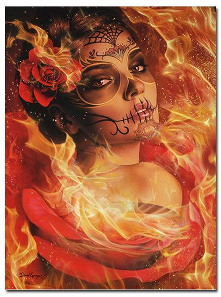 """Burning Desire"" Canvas Art Piece by Daniel Esparza for Black Market Art (More Options) - www.inkedshop.com"