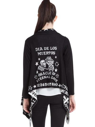 "Women's ""Love Oracle"" Cardigan by Jawbreaker (Black)"