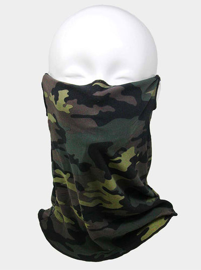 Camo Print Seamless Face Tube Mask