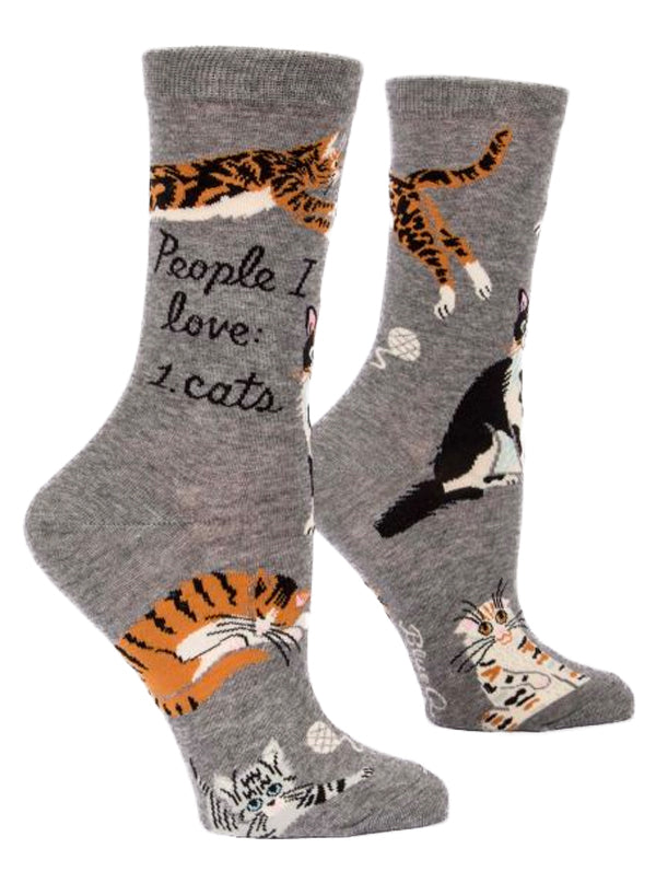 Women's People I Love: Cats Crew Socks