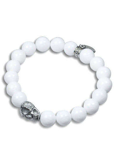 """Skull And Stones"" Stretch Bracelet by Controse (More Options) - www.inkedshop.com"