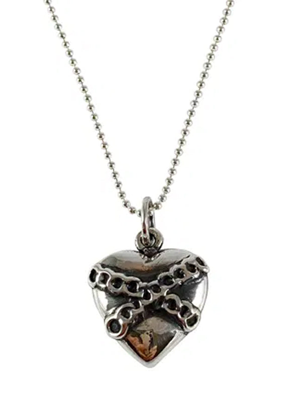 Chained Heart Necklace by Femme Metale