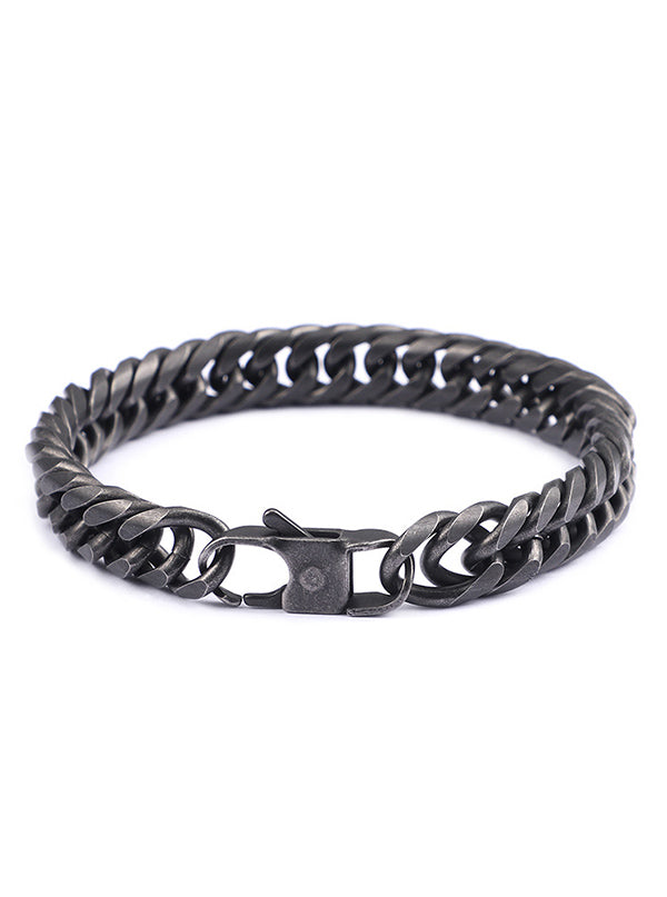"Men's ""Biker Link"" Curb Chain Bracelet (Stainless Steel)"