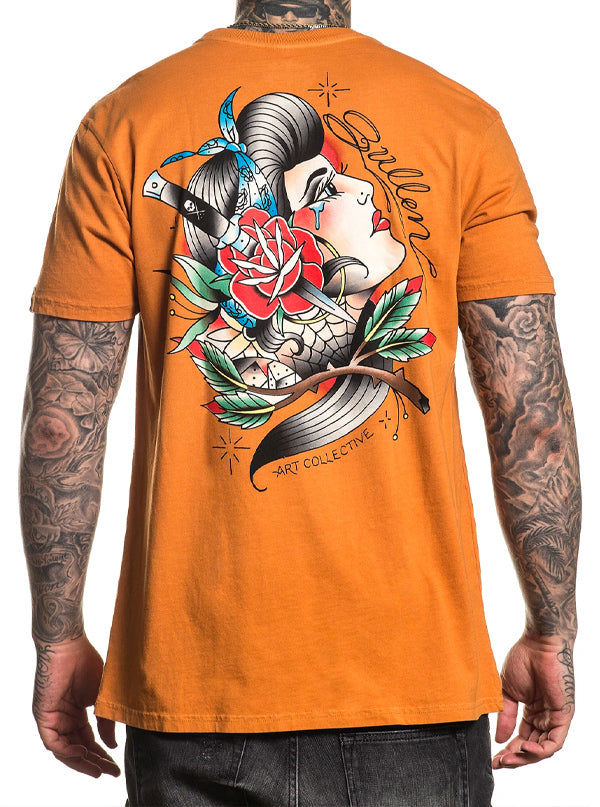 "Men's ""Cholita"" Tee by Sullen (Orange)"
