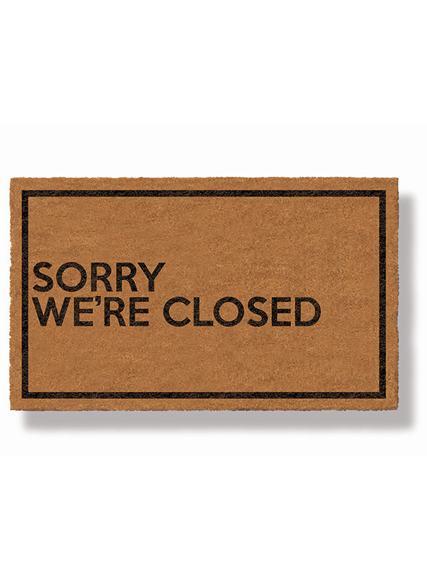 Sorry We're Closed Doormat by Bison
