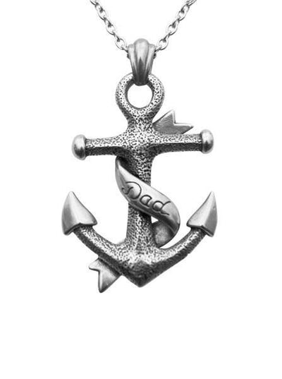 """Dad Anchor"" by Controse (Silver) - www.inkedshop.com"