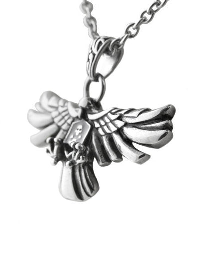 """Bald and Bad To The Bone"" Necklace by Controse (Silver) - www.inkedshop.com"