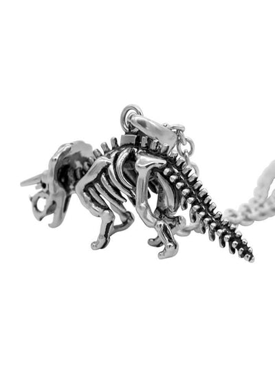 """Triceratops Skeleton"" Necklace by Controse (Silver) - www.inkedshop.com"