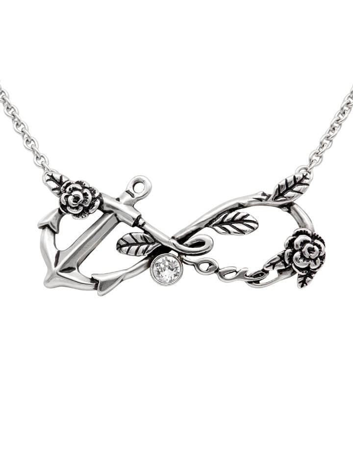 """Infiniti Love Anchor"" Necklace by Controse (Silver) - www.inkedshop.com"