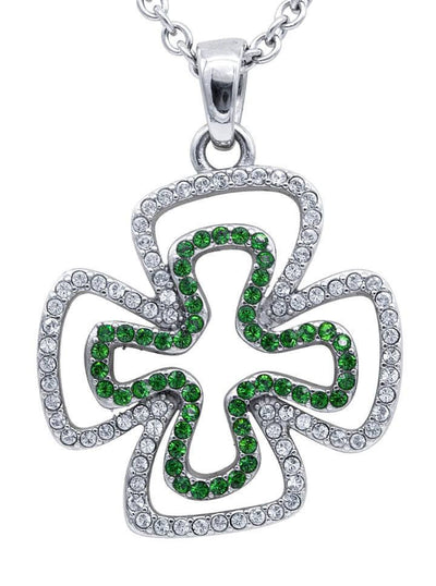"""Double Your Luck"" Necklace by Controse (Green) - www.inkedshop.com"