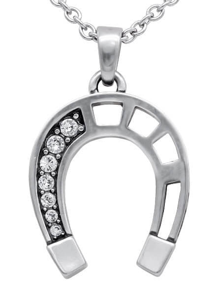 """Lucky Horseshoe"" Necklace by Controse (Silver) - www.inkedshop.com"