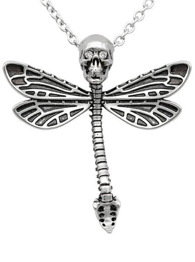 """Deadly Dragonfly"" Necklace by Controse (Silver) - www.inkedshop.com"