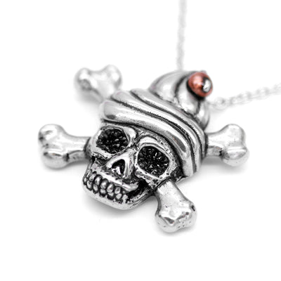 """Sweet & Deadly Skull"" Necklace by Controse (Stainless Steel)"