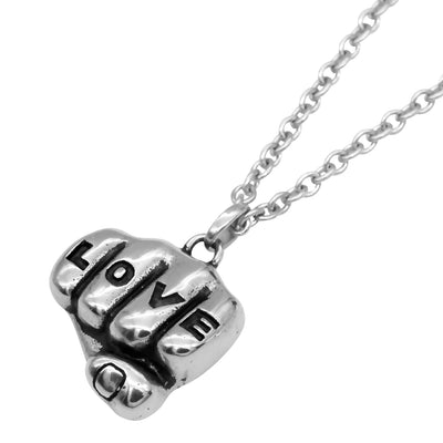 """Love N Hate Tattooed Hands"" Necklaces by Controse (Stainless Steel)"