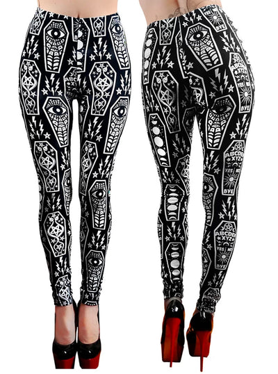 Women's Coffin Cuties High Waist Leggings by Too Fast