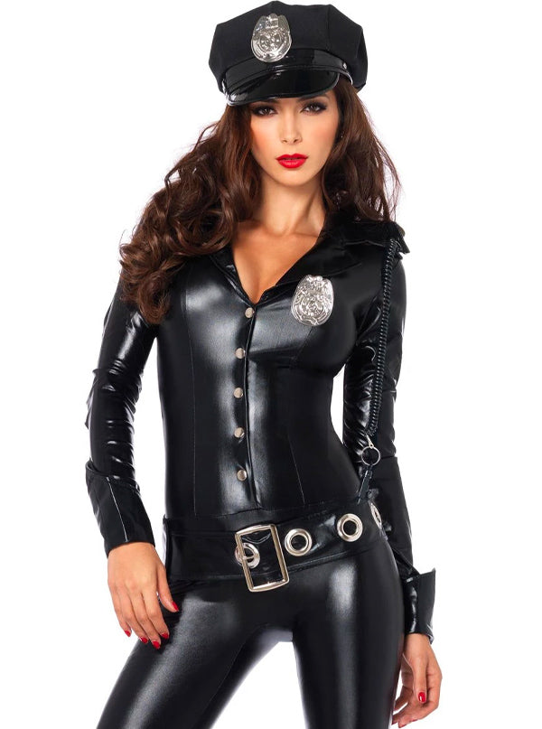 Women's Officer Payne Costume by Leg Avenue (Black)