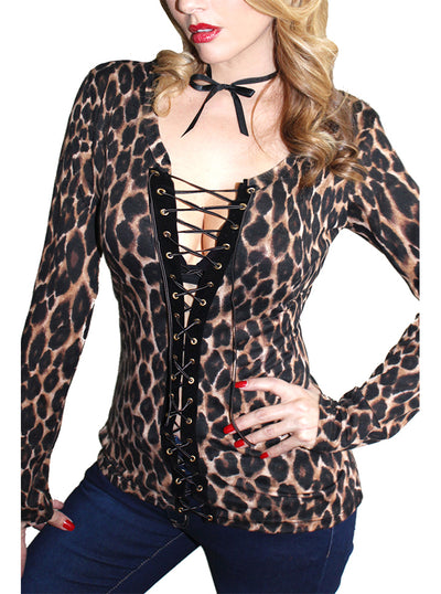 Women's Cowgirl Vixen Corset Tee by Demi Loon