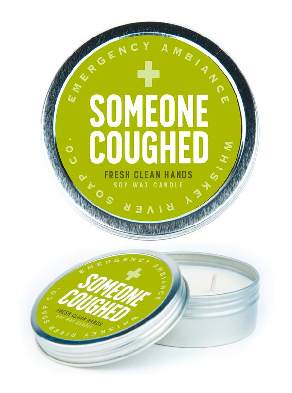 Someone Coughed Travel Tin Candle