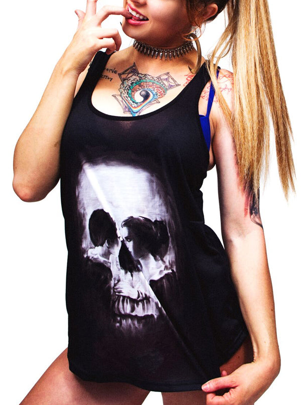 Women's Skull Couple Sublimation Tank by Lethal Angel