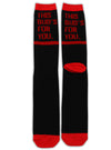 """BUDWEISER FOR YOU"" SOCKS (Black/Red)"