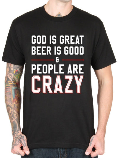 Unisex People Are Crazy Tee by Dirty Shirty