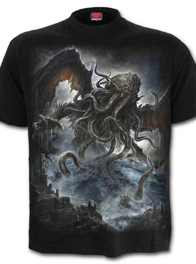 "Men's ""Cthulhu"" Tee by Spiral USA (Black)"