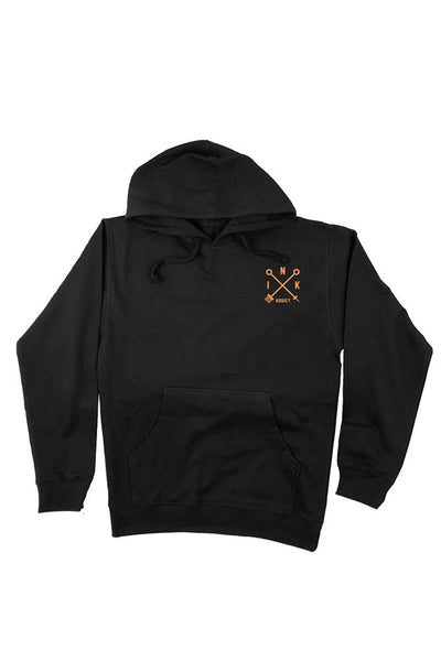"Men's ""Campbell Eagle"" Hoodie by InkAddict (Black)"