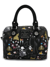 """Character Print"" Mini Saffiano Faux Leather Duffle Bag by Loungefly x Nightmare Before Christmas (Black)"