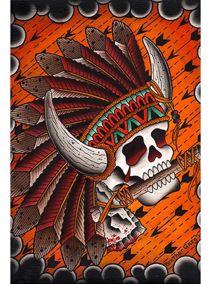 """Chief Great Buffalo"" Print by Brother Greg for Black Market Art - www.inkedshop.com"