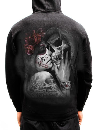 "Men's ""Dead Kiss"" Hoodie by Spiral USA (Black)"