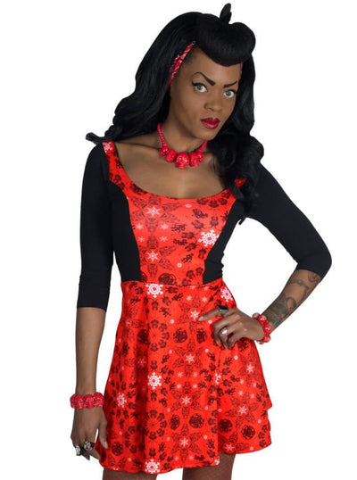 "Women's ""Krampus"" Flare Dress by Kreepsville 666 (Red) - www.inkedshop.com"