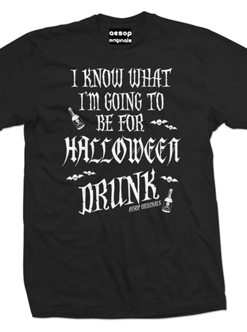 "Men's ""Halloween Drunk"" Tee by Aesop Originals (Black)"