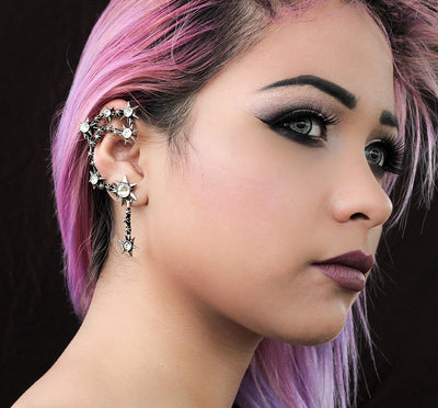 """Daughters of Darnkess"" Ear Wrap by Alchemy of England (Pewter)"