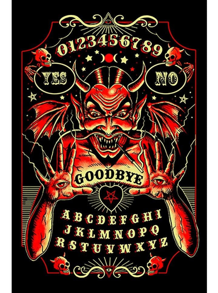 """Devil Spirt Board"" Print by Marcus Jones for Black Market Art - www.inkedshop.com"