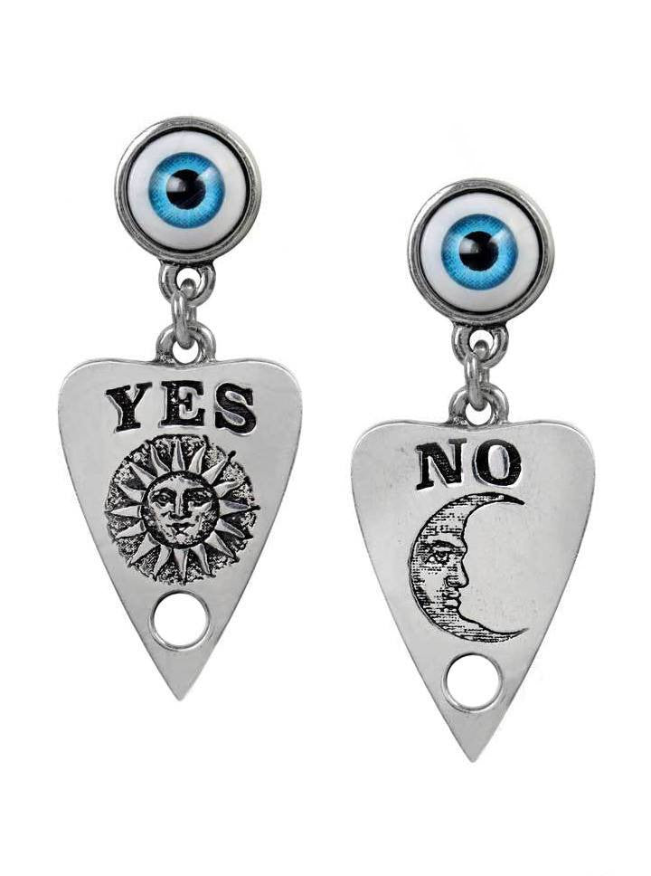 """Ouija Planchette"" Earrings by Alchemy of England - www.inkedshop.com"