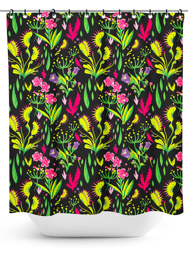 Deadly Beauties Shower Curtain by Sourpuss