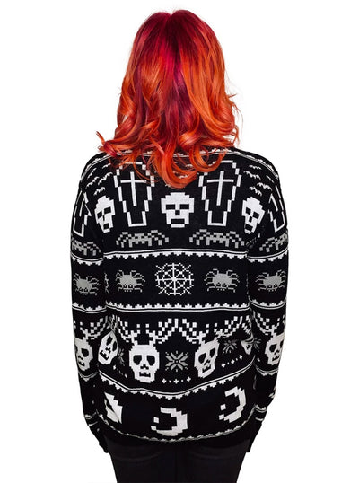 Women's Eat Drink & Be Spooky Ugly Christmas Sweater by Too Fast