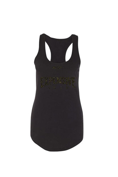 Women's Expensive Skin III Glitter Black Tank by InkAddict