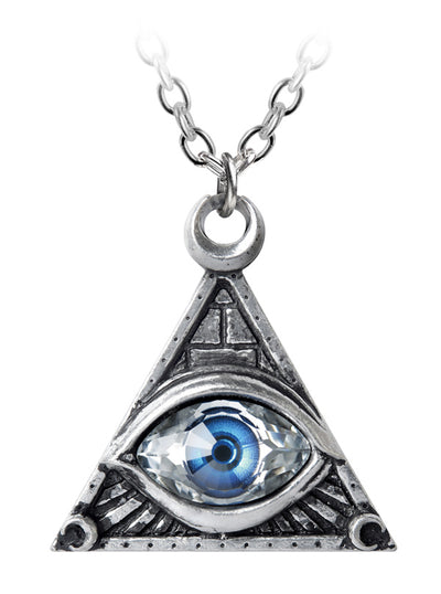 """Eye of Providence"" Necklace by Alchemy of England (Silver)"