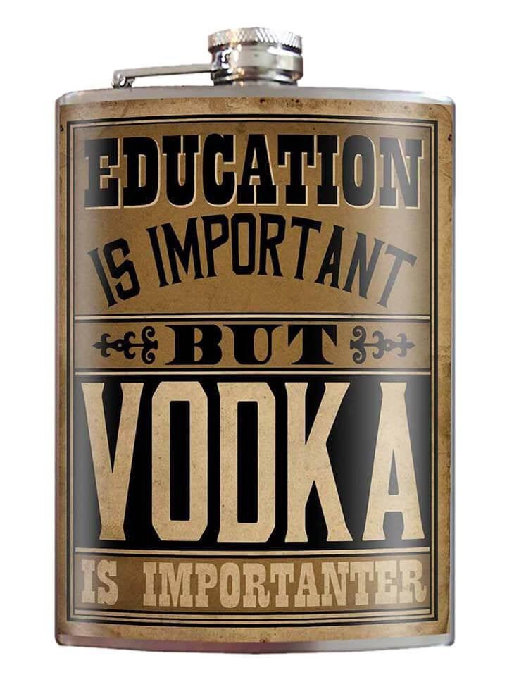 """Education is Importanter"" Flask by Trixie & Milo - www.inkedshop.com"