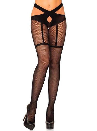 Women's Fishnet Crotchless Tights by Leg Avenue