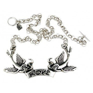 Love Birds Necklace by Femme Metale - InkedShop - 1