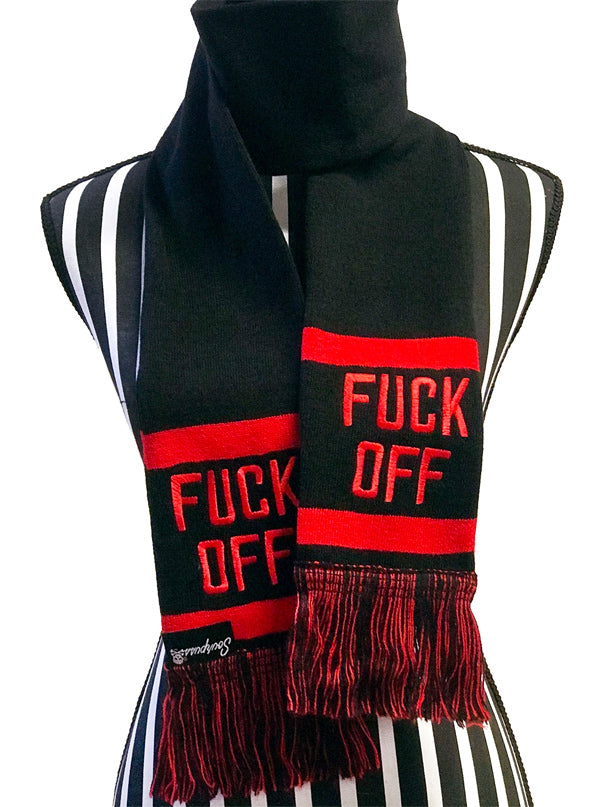 F*ck Off Knit Scarf by Sourpuss