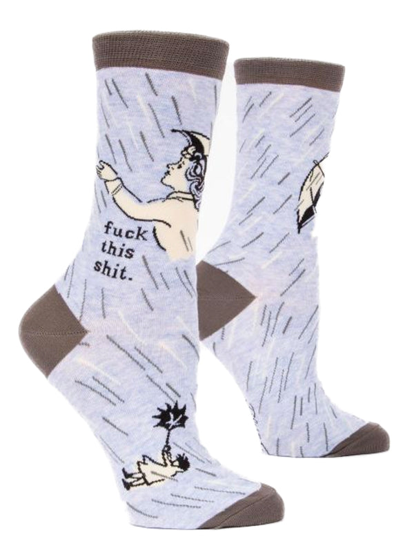 Women's Fuck This Shit Crew Socks