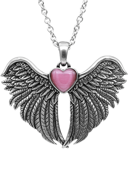 Forever with You Winged Heart Necklace by Controse