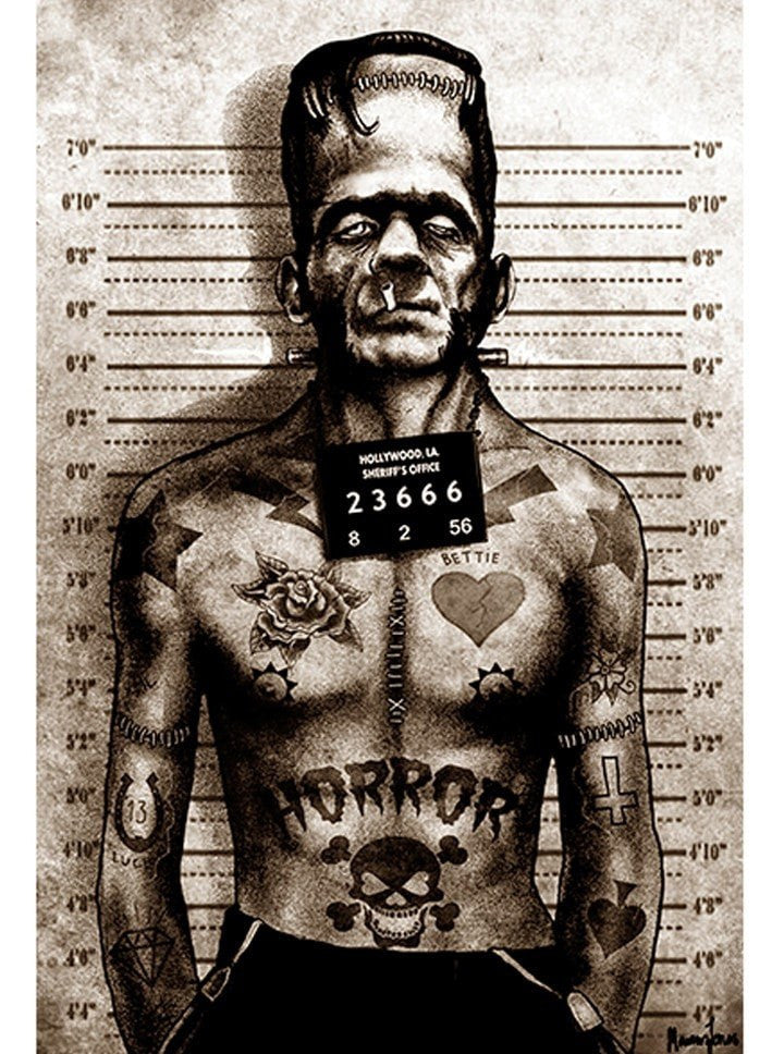"""Franky Mugshot"" Print by Marcus Jones for Black Market Art - www.inkedshop.com"