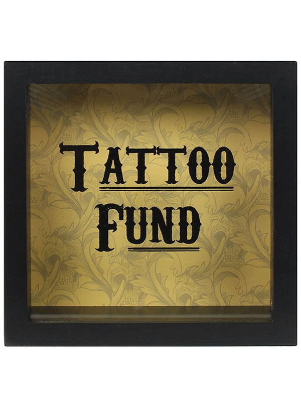 """Cabinet of Curiosities Tattoo Fund"" Money Box by Skulls & Things"