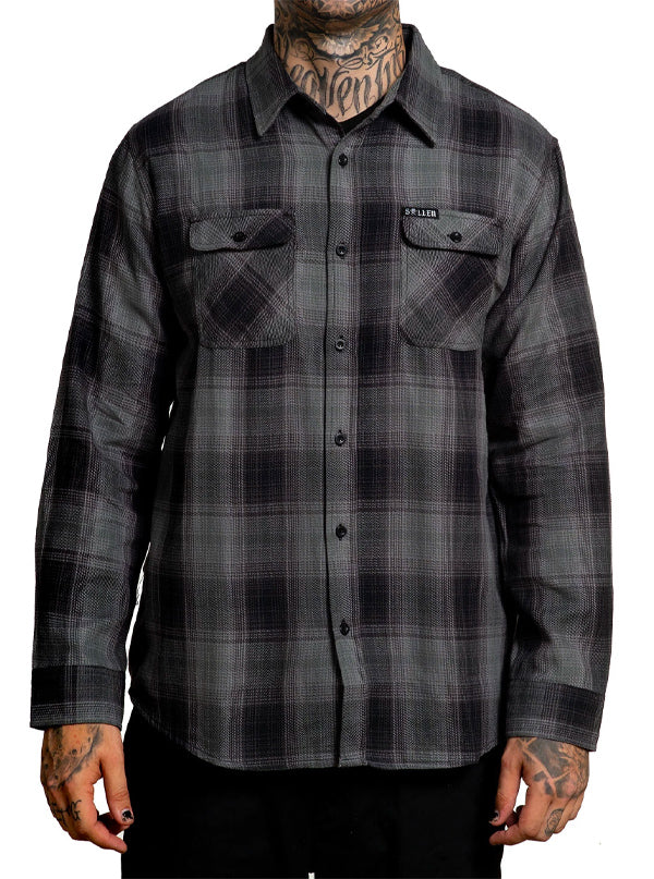 Men's Gatling Flannel by Sullen (Black/Grey)